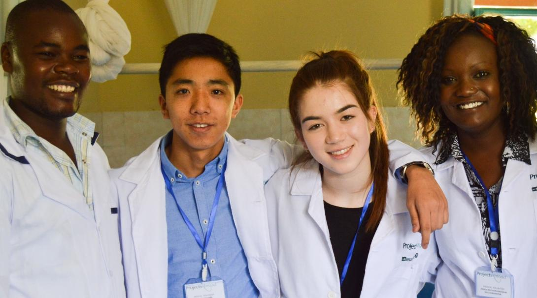 A group of undergraduates shadow doctors abroad on a Medicine internship in Kenya.